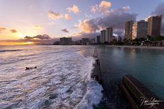 Waikiki Sunset (Dan Sherman) Tags: ocean sunset sun buildings island hawaii downtown skyscrapers pacific waikiki oahu wave pacificocean southpacific honolulu pacificsunset hawaiisunset waikikisunset oahusunset danshermanphotography danshermanphotographycom