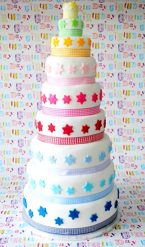 Nine tier Birthday cake