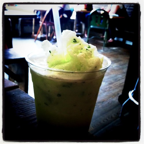 frozen cucumberade at Tiny Cup