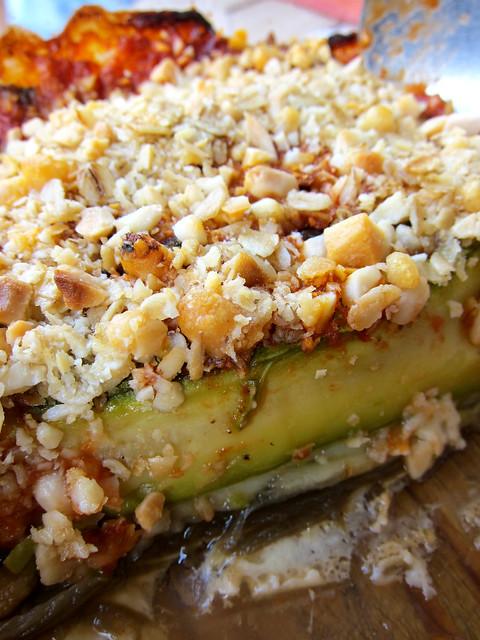 Eggplant and zucchine crumble