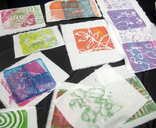 Monoprinting ~ student work