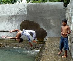 Back Flip Dive (edpcv) Tags: boy beach asia child teen dumaguete filipino oriental visayas negros 2011 visaya calindagan