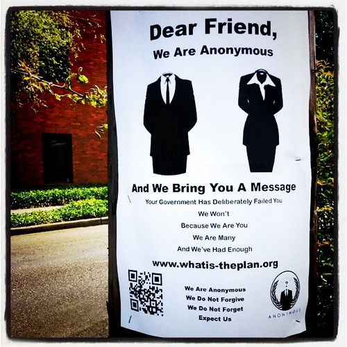 Dear Friend, We are Anonymous…