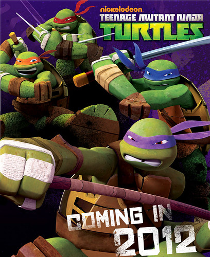 "Nickelodeon's Teenage Mutant Ninja Turtles ""Mutation in Progress"" :: USB flash drive // "" - COMING IN 2012 "" poster (( 2011 ))"