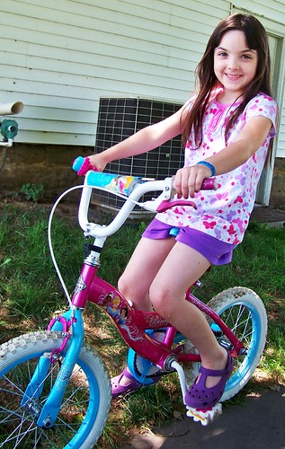 Julia and her bike