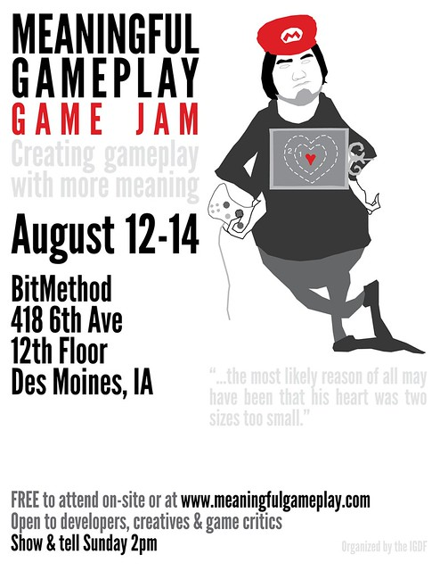 Meaningful Gameplay Game Jam 1 Poster