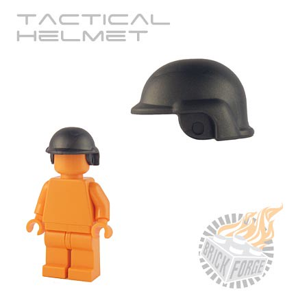 Custom minifig Tactical Helmet - Steel