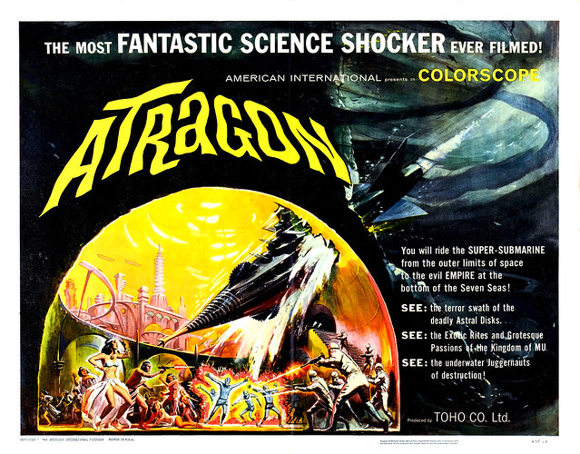 Reynold Brown - Atragon (American International, 1964) half sheet