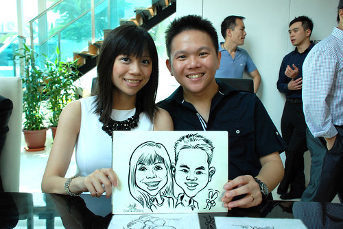 caricature live sketching for wedding solemnisation - 3