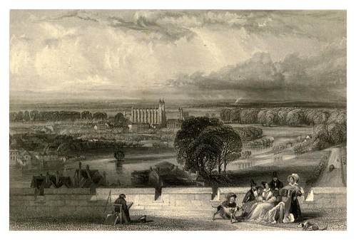 010- Eton desde la terraza Windsor-Windsor Castle and its environs 1848- Ritchie Leitch