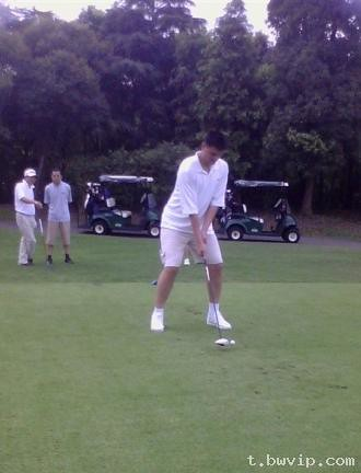 Late July/early August 2011 - Yao Ming plays golf at Sheshan Golf Club in Shanghai