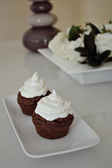 Cupcakes au Chocolat et glaçage vanille au creamcheese et fromage blanc (PP/PL) - avec tolérés