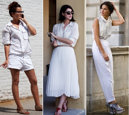 GET THE LOOK street style white