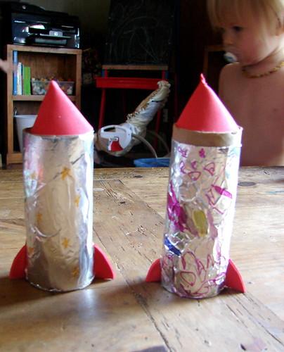 Cardboard Roll Rockets Pic 5
