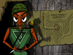 """ Subrreci THE HERO OF INSECTS"" (dukk from D2works) Tags: game monster illustration insect spider character ant bad hero gamecharacter"