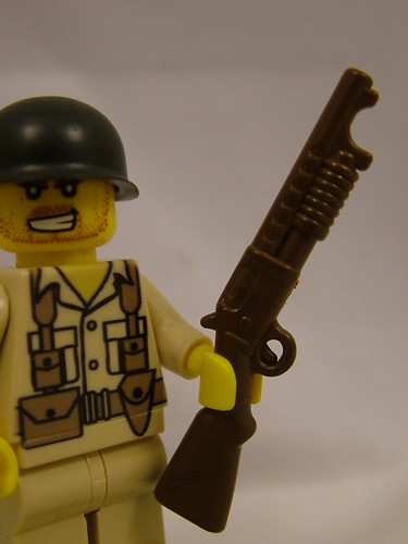 Custom minifig BrickArms at Brickfair 2011 - M97 Trench Gun prototype