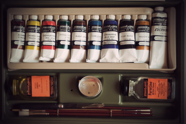Vintage oil painting kit