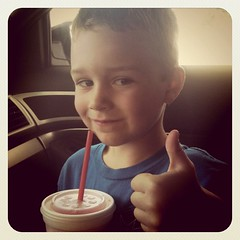 Day at the water park + slushies get a big thumbs up!!