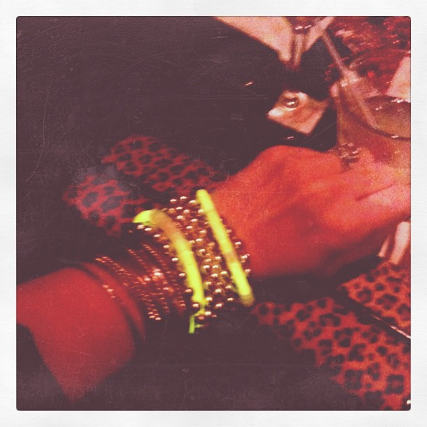 Glowing arm party at CheeseburgHer #blogHer11