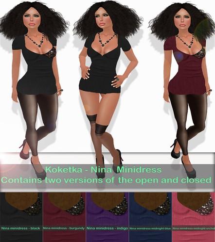 Nina Mini dresses