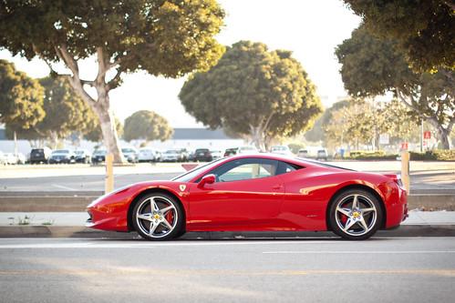 Ferrari 458 Italia. Parked in