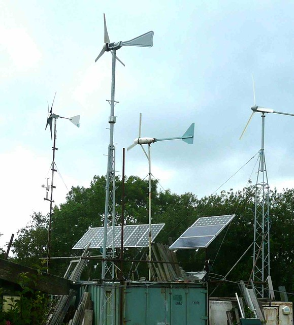wind generators and PVs