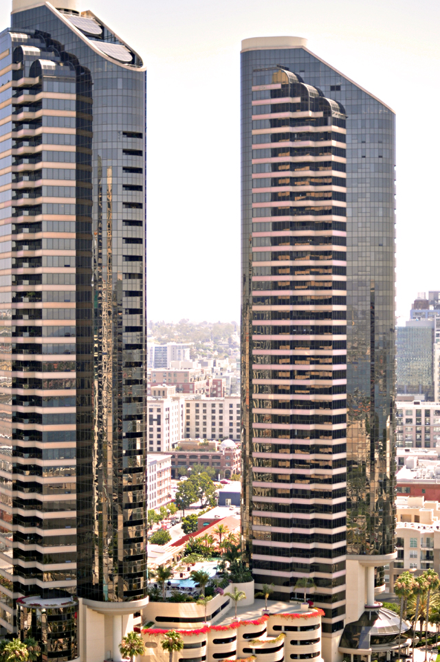 high rise buildings in san diego + view from the marriott