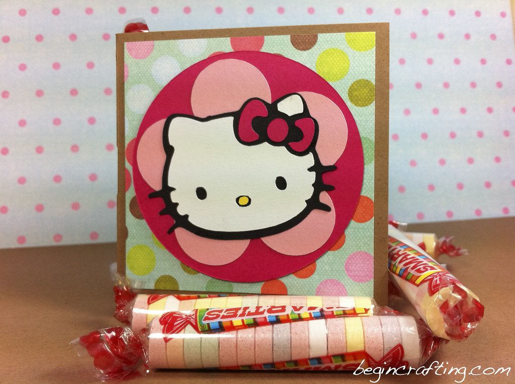 Handmade Hello Kitty Mini Card with Candy Slot