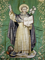 Doctor Veritatis (Lawrence OP) Tags: dog saint stone book truth dominican lily habit embroidery preacher banner torch rosary friar stdominic