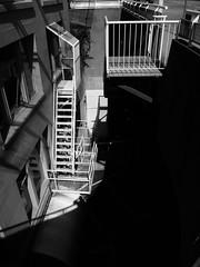 (Blinking Charlie) Tags: street urban blackandwhite bw canada vancouver blackwhite britishcolumbia basement stairway sidewalk lightandshadow lightwell 2011 tumblr wcordovastreet canonpowershots95 blinkingcharlie bwtumblr
