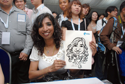 caricature live sketching for Singapore International Water Week Closing Dinner - 25