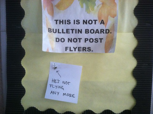 THIS IS NOT A BULLETIN BOARD - DO NOT POST FLYERS  He's not flying any more...