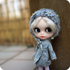Piper  (Angel~Lily) Tags: new girl hat set silver doll special mohair blythe piper custom granny takara msr bambina ghostie  reroot carabina angel~lily