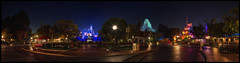 The Hub - Disneyland (Explore) (Gregg L Cooper) Tags: panorama night hub disneyland disney explore matterhorn hdr partners mainstreetusa sleepingbeautycastle canoneos7d