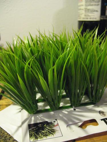 plastic aquarium grass