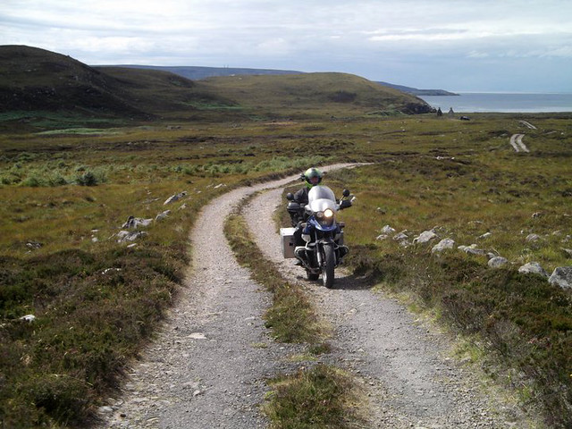GS on the road from Slaggan Bay.
