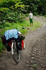 Answering the call of nature on a cycle tour near Niseko, Hokkaido, Japan