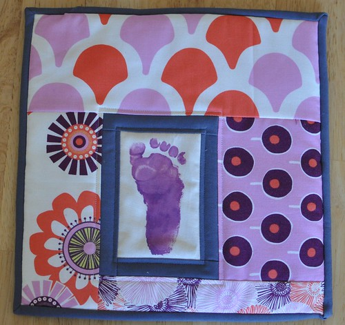 footprint potholder for Stacy
