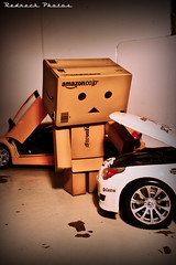 Danbo the mechanic 6/365 (Redneck Photos) Tags: scale car toy japanese figure 365 kaiyodo danbo revoltech danboard