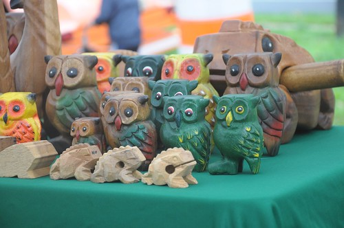 Wood carved owls