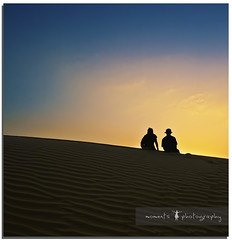 Life... it all comes down to moments.. this is one of them!! (PNike (Prashanth Naik..back after ages)) Tags: blue light sunset sky india colors yellow photography sand nikon moments desert earth dunes jaisalmer rajasthan d7000 pnike