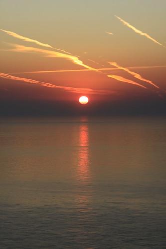 Sunrise over France