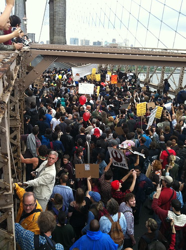 #occupywallstreet Brooklyn Bridge March