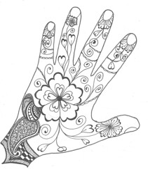 Outline Mehndi (La_tigress) Tags: butterfly mehndi newcreation zentangle zendoodle