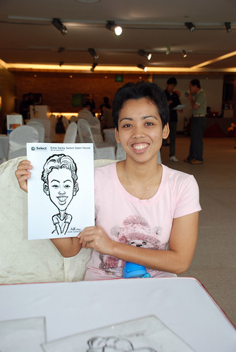 Caricature live sketching for Sime Darby Select Open House Day 1 - 12