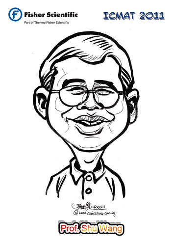 Caricature for Fisher Scientific - Prof. Shu Wang