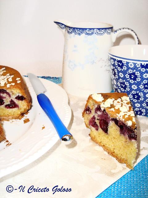 Torta ai mirtilli e cioccolato bianco 2