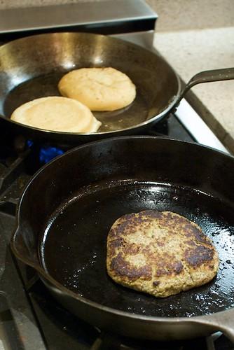 Veggie burgers w/ homemade patties