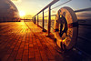 Golden breeze (y2-hiro) Tags: sunset sea sunlight reflection gold nikon osaka 2470mm d3s
