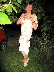 31 - Tigress at bay... (Julie Bracken) Tags: old red party portrait fashion hair ginger tv cd mini skirt crossdressing tgirl transgender mature tranny transvestite heels crossdresser nylon kinky trannie mtf m2f feminized enfemme xdresser tgurl feminised transsisters julieb85
